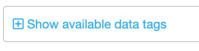 Dentally templates show data tags