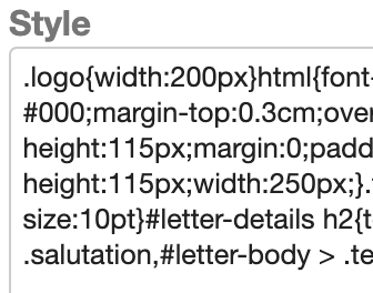 Dentally Template Style sheet example